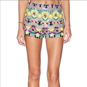 Kas New York Adele sequin high waisted shorts XS